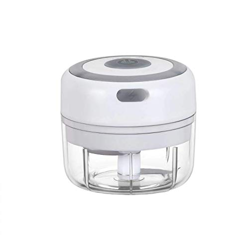 Electric Garlic Chopper, Mini Cordless Food Chopper/Palm-sized Blender to Chop Fruits/Vegetables/Garlic/Onion for Salsa/Salad/Pesto/Coleslaw for Kitchen Gadgets (100ML)
