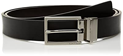Calvin Klein Women's Reversible Belt, Black/Brown, L