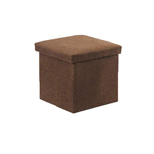 Rechthoekige opslag kruk opslag kruk zitten kleine bank kruk thuis multifunctionele schoen bankje opbergbox (Color : Brown, Size : 55L)