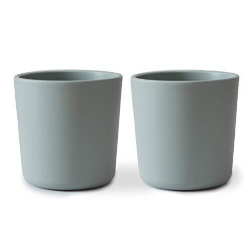 Taza Cup Microondas Vasos de Entrenamiento Set de 2 | Vajilla para niños, juego de 2 | Sin BPA Fabricado en Dinamarca (Sage)