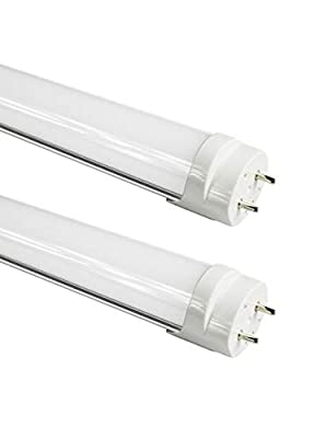 (2-Pack) Fulight Ballast-Bypass F25T8/CW LED Tube Light- T8 3FT 14W (30W Equivalent), Daylight 5000K, Single-Ended Power, Frosted Cover - 85-265VAC + One Free Non-Shunted Lamp Holder