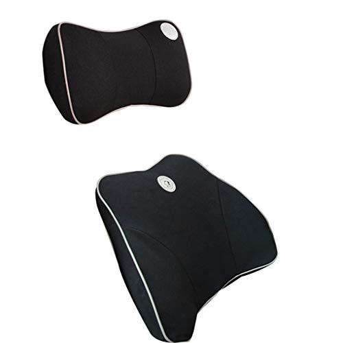 Reposacabezas del coche almohada para el cuello Interior del automóvil asiento almohada memoria del automóvil algodón Respaldo de la cintura del automóvil Cojín lumbar almohada cojín asiento del cuell