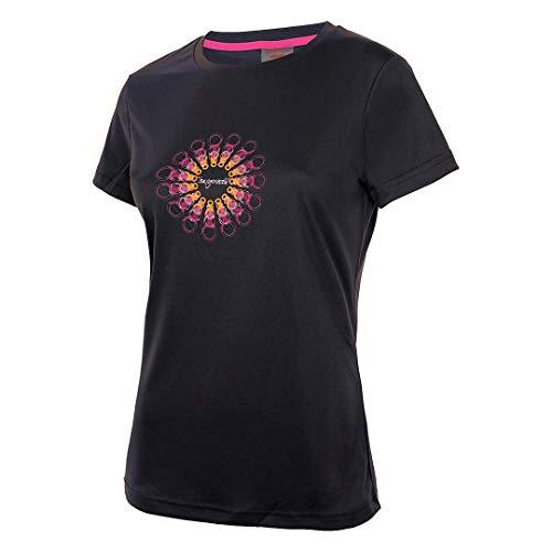 Trangoworld Sorores Camiseta, Mujer, Negro, S