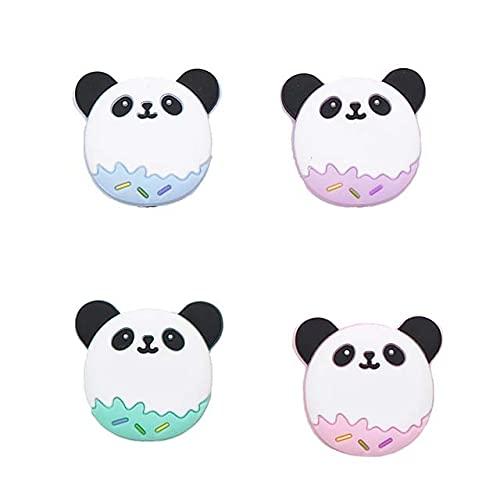 Chengkai 10pcs Silicona Koala Mordedor Beads DIY Animal Baby Shower Dentición Montessori Sensory Cartoon Jewelry Beads BPA Free-Panda, China