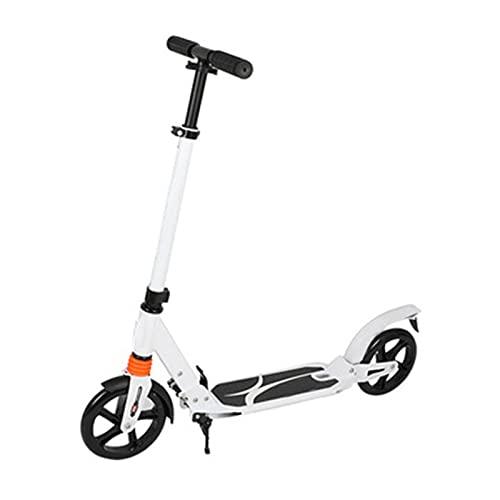 XXXD Scooter plegable portátil, para estudiantes adultos plegable de elevación de dos ruedas se puede utilizar para viajes diarios y viajes de corta distancia blanco