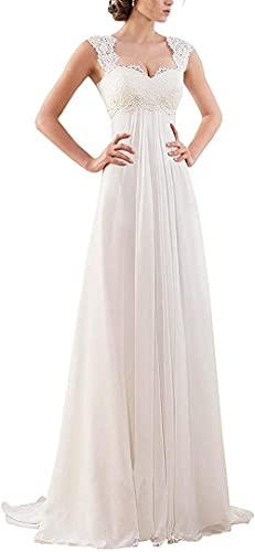 Yidieman Damen Brautkleider für Braut Ärmellose Spitze Plus Size Braut Abendkleider für Hochzeit für Strandhochzeit