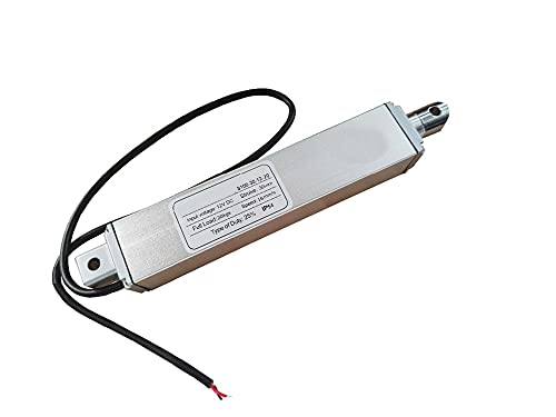 Zyilei-Actuador lineal 12V 24V eléctrico DC Motor de alta velocidad 16 mm por sec, actuador micro lineal con soportes de montaje, carga máxima de 200N, 30 mm accidente cerebrovascular sensible y estab