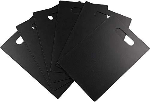 Tabla de cortar rectangular deplástico para cocina,juego de 6tablas de cortar(gris)