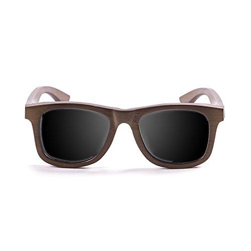 Ocean Sunglasses Wood Victoria - Gafas de Sol polarizadas de Bambú - Montura : Marrón - Lentes : Ahumadas (53003.01)