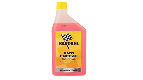 Bardahl Antifreeze OA Tech Antigelo Rosso Red Concentrato -37°C +108°C 1 LT