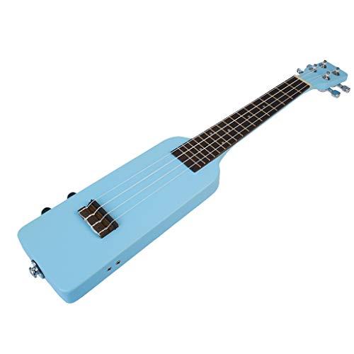 -Ukulele Kreative Flaschen-Form 23-Zoll-Massivholz-Elektro-Kit mit Tragetasche 3,5-mm-Audiokabel 4pcs Extra-Strings Anfänger und Fortgeschrittene Ukulelen (Color : Blue)