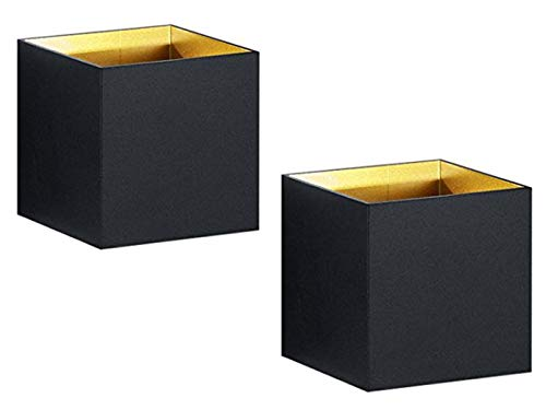 Set van 2 - Moderne up & down LED wandlampen KUBUS mat zwart, 10x10x10cm