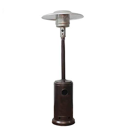 Sunnyvale 48000-BTU Floorstanding Liquid Propane Patio Heater with Wheels | Mocha Brown Color | Commercial Quality