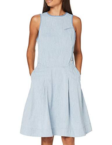 G-STAR RAW Damen Dress Fit and Flare, Rinsed 8727-082, Medium