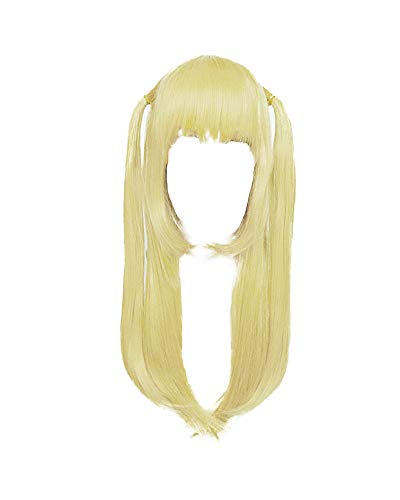 Coskidz Women's Amane Misa Cosplay Wig Long Two Pony Tails Golden