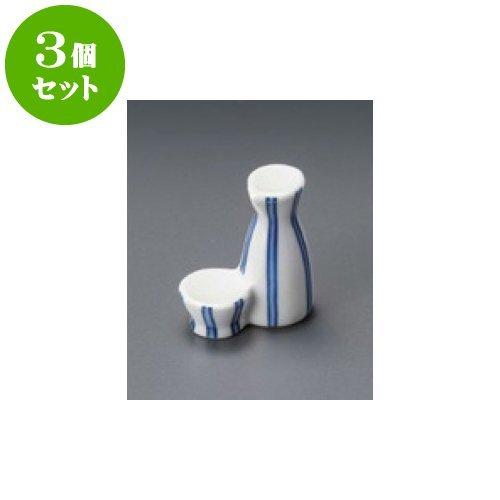 3個セット 箸置 ダミ十草徳利型箸置 [4 x 5cm] 【料亭 旅館 和食器 飲食店 業務用 器 食器】