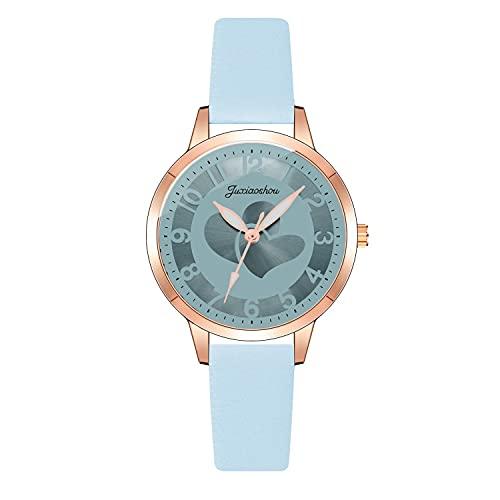CXJC Reloj de Cuarzo de Cuero + aleación. 3ATM Reloj Deportivo a Prueba de Agua. 9 Colores Disponibles (Color : Si)