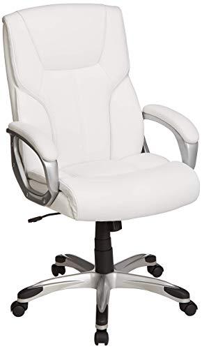 silla gamer blanca de la marca Amazon Basics