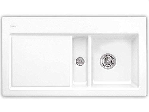 Villeroy & Boch Subway 50 Snow White Auflage Keramik-Spüle Weiß Küchenspüle