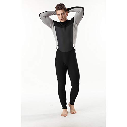 Kariwell Men' Wetsuit, One-Piece 3MM Full Body Wetsuit Swim Suit, Snorkeling Surfing Scuba Divingsuit,Breathable Quick Drying,Best Summer Gift for Athletic Supporter (L2)