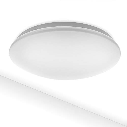 LED Deckenleuchte COMO 12W | Warmweiß 3000K IP44 Spritzwasserschutz 980lm Deckenlampe Badezimmer Küche WC Treppenhaus