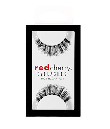 Red Cherry Molla Künstliche Augenwimpern, Schwarz
