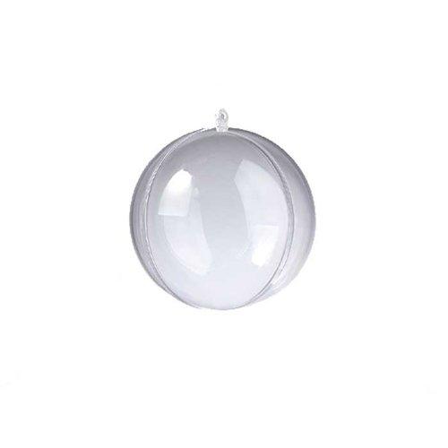 Kunststoffkugeln transparent zum Basteln und Bemalen Ø 10cm, 10 Stück