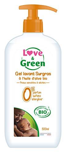 Love & Green Gel Surgras sans Parfum sans Sulfate Bio 500 ml