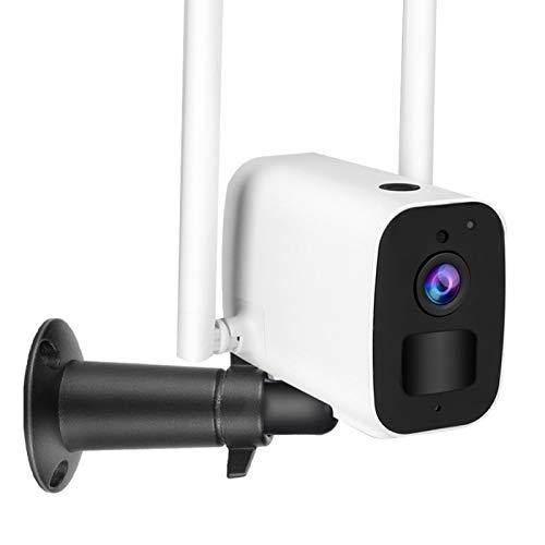 Cámara WiFi 1080P, Cámara de vigilancia doméstica para interiores/exteriores, Cámara IP impermeable IP65, Gran angular de 114 °, Detección de movimiento PIR, Visión nocturna avanzada