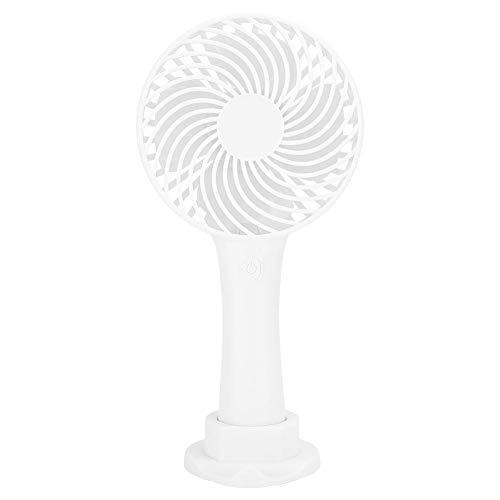 Goshyda Mini Ventilador de Mano, Tiempo de Trabajo 2-4H, Tres Engranajes, plástico ABS, retráctil, Flexible, Ligero, USB, Ventilador para Dormitorio, Oficina(Blanco)