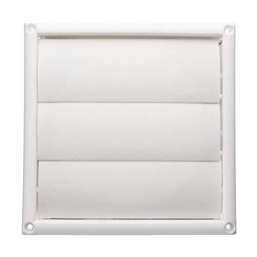 XZJJZ Rejilla de ventilación de Aire Cubierta de ventilación Rejillas de Pared Blanca de plástico Conducto 200x200x40mm Calefacción Refrigeración y ventilación Ventilaciones