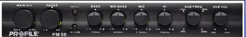 Best Buy! Profile PM50 - 4 Band Parametric Equalizer with Sub Crossover