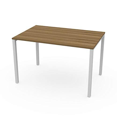 LEVIRA – Mesa de Oficina, Mesa de Comedor, Escritorio, Ceou - 120 x 74 - Nogal Tróia