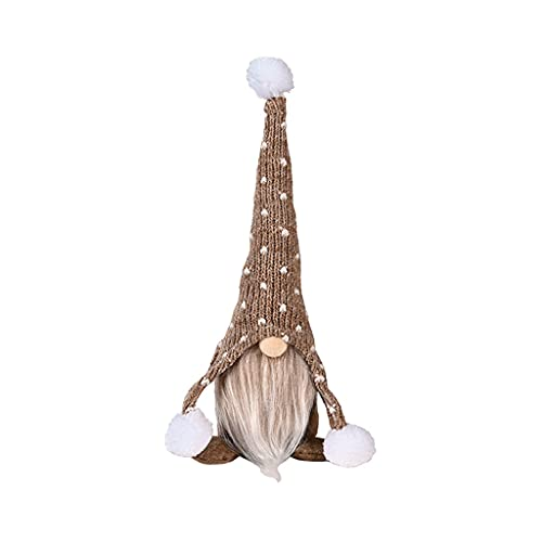 Yunnan Gnomo sentado Adornos Navidad Felpa Elfo Suave Muñeca De Punto Sombrero De Escritorio Decoración De Dormitorio Árbol De Navidad Colgante Estatuilla Adornos