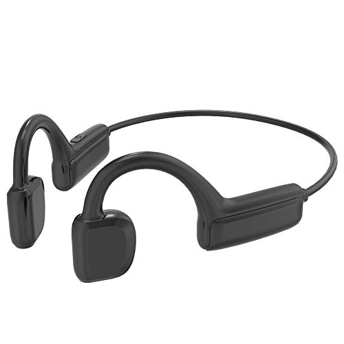 Auriculares de conducción ósea con Bluetooth 5.1, Auriculares inalámbricos para Deportes sin Oreja, Impermeables, Auriculares de conducción ósea G1 con micrófono, para Correr, Correr
