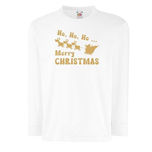 lepni.me Kinder T-shirt Ho ho ho, Kerstman met rendier slee