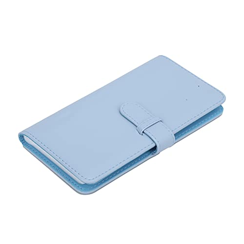 Longzhuo Cartera de 80 Bolsillos Álbum de Fotos Mini álbum de Fotos de Cuero PU Portatarjetas Caja de imágenes Universal Apta para Polaroid/Square SQ1/SQ20/SQ10/SQ6/SP-3(Azul)