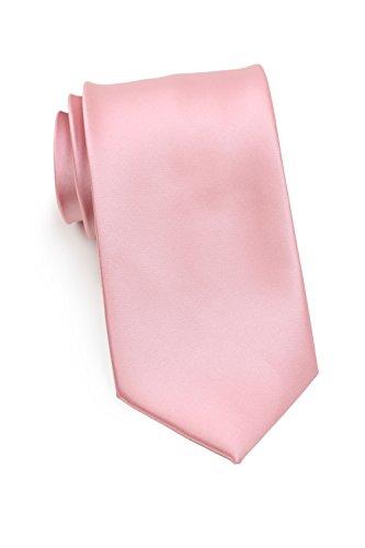 PUCCINI schmale Krawatte│6cm skinny slim Tie/Hochzeitskrawatte/Plastron/Schlips │ uni/einfarbig: Altrosa