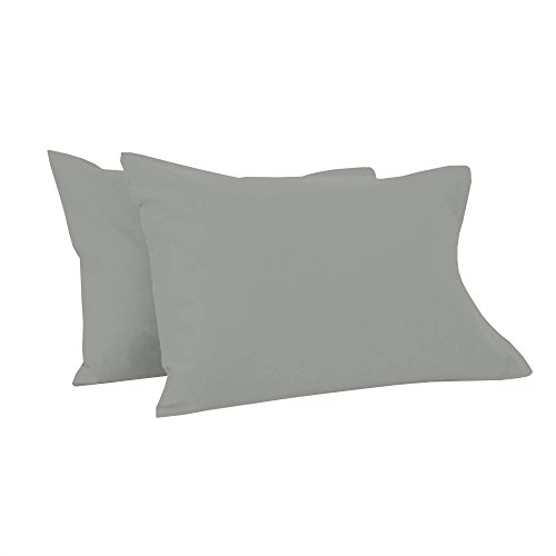 Toddler Pillowcases 12X16 Inches-Set of 2 PC Toddler Pillow Cover for Sleeping-Ultra Soft Safe (Light Grey) Shiny Giza Egyptian My Dream Toddler Pillowcases for Boys Girls-Perfect for Travel