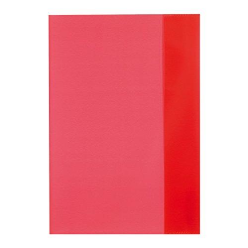 10 Herlitz Heftumschläge/Hefthüllen DIN A5 / Farbe: transparent rot