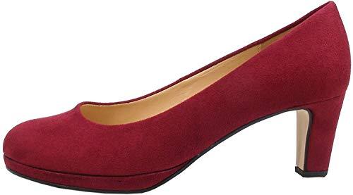 Gabor 91-260 Schuhe Damen Microvelour Plateau Pumps Weite F, Größe:40 EU, Farbe:Rot