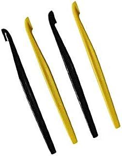 NewTupperware Fruit Orange Citrus Peeler Yellow Black Set of 4