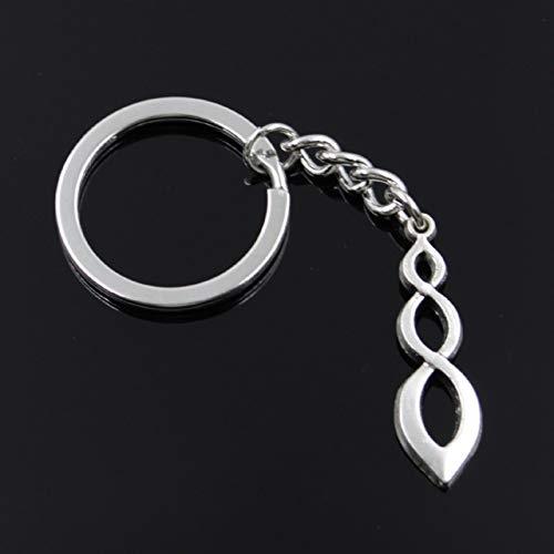 TAOZIAA mode mannen 30mm sleutelhanger DIY metalen houder ketting vintage infinity dolk 37x11mm zilveren hanger Gift