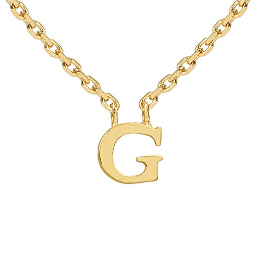 Pernille Corydon Urban Notes Collection - Collana da donna con lettera piccola in argento placcato oro lucido e Argento, colore: gold, cod. 940