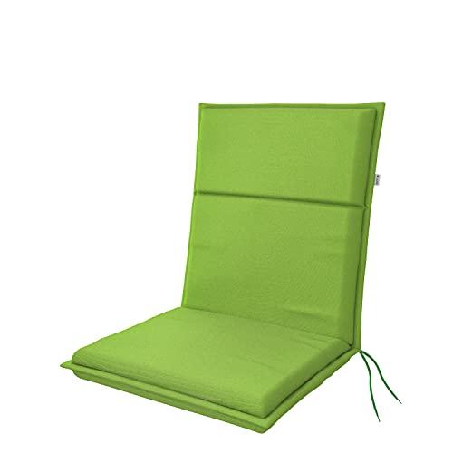 doppler Cojín acolchado con respaldo bajo, con cinta de sujeción y cintas de sujeción, para sillas de jardín y mejor comodidad de asiento