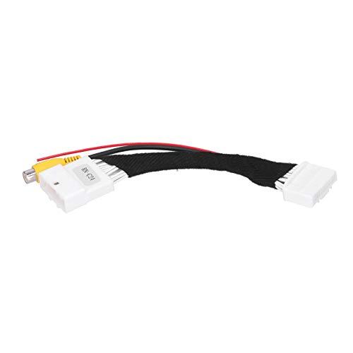 Socobeta Cable adaptador de cámara de visión trasera fácil de usar Cable de conector de cámara inversa extremadamente fuerte compatibilidad estándar RCA video para Renault