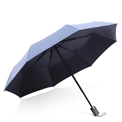 DORRISO Voyage Automatique/Manuel Ouverture Fermeture Parapluie Coupe-Vent Imperméable Compact Portable étanche Homme Femme Poignée Antidérapante Parapluie de Voyage