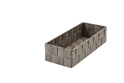 Compactor, Panier de rangement, Marron, Taille L, Dimensions 30 X 12 X H.7 cm, RAN6463