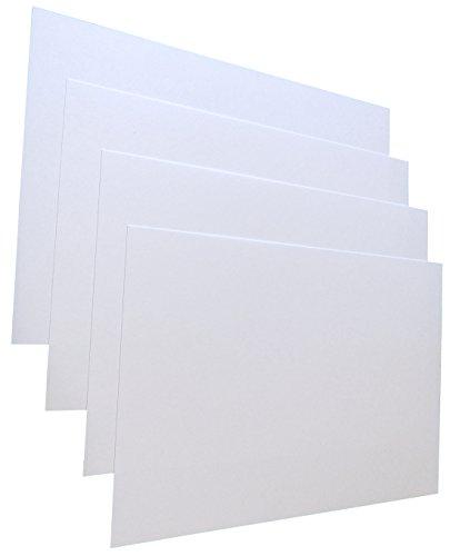 50x Weiße Blanko-Briefkarten, Postkarten Leinenstruktur (BEIDSEITIG) , DIN Lang, 246g/m² (22763)