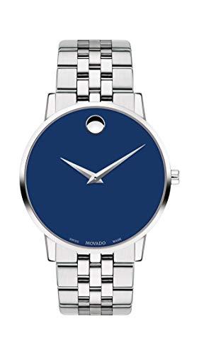 Movado Museum Herren-Armbanduhr 40mm Armband Edelstahl + Gehäuse Quarz 0607212